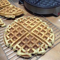 Banana Oats Waffles (2 large) - mashed banana 300g + plain yogurt 60g + eggs 2 + baking soda 1/4tsp + oatmeal 60g + APF 80g + ground black bean 10g + honey 20g + vanilla extract 1tsp + chopped walnut 30g + chopped red dates 5 whole + pinch of salt