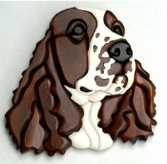 Intarsia Springer Spaniel by JCsWoodCreations on Etsy, $50.00