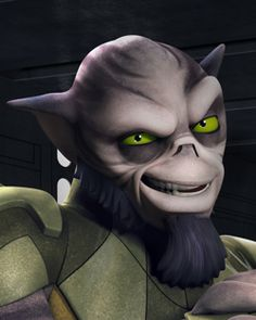 Zeb Orrelios I saw the voice for him I person at Star Wars week end. So cool!!!!!!!!!!! :)