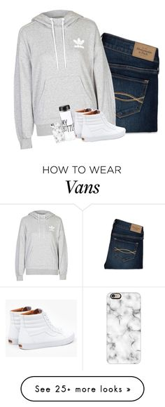 """:):"" by i-am-bryana on Polyvore featuring Abercrombie & Fitch, adidas, Vans, Casetify, women's clothing, women, female, woman, misses and juniors"