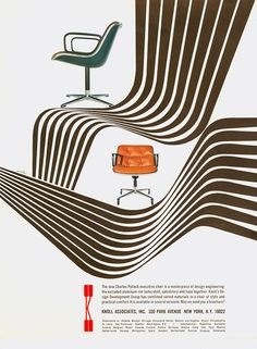 The Iconic Graphic Design Work Created by Herbert Matter for Knoll. Bauhaus, Vintage Advertisements, Vintage Ads, Vintage Designs, Vintage Graphic, Retro Ads, Vintage Stuff, Modern Graphic Design, Graphic Design Typography