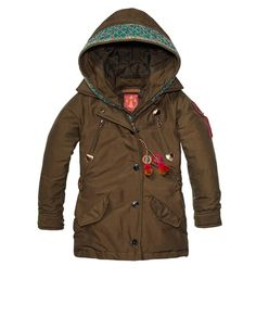 Longer Nylon Jacket With Embroidery > Kids Clothing > Girls > Jackets at Scotch R'Belle