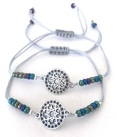 Om Bracelets 2 Delicate Spiritual Gl Seeds Soulmate Friends S Yoga Thread