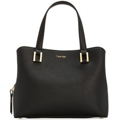 Calvin Klein Cindy Small Satchel (13.000 RUB) ❤ liked on Polyvore featuring  bags, handbags, black, calvin klein bags, calvin klein satchel, ... 995876cb6d2