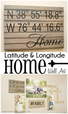 Julie's Favorites: Latitude & Longitude Home Wall Art