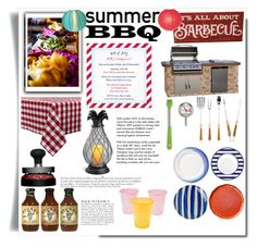 """""""Summer BBQ"""" by pinkymonster ❤ liked on Polyvore featuring interior, interiors, interior design, home, home decor, interior decorating, GAS Jeans, Schmidt Brothers, Mr. Bar-B-Q and Sur La Table"""