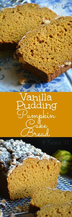 A yummy dessert bread that tastes like pumpkin cake-- this Vanilla Pudding Pumpkin Cake Bread is a seasonal favorite that's easy enough for any level of baker.