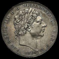 1819 George III Milled Silver LIX Crown, G/EF