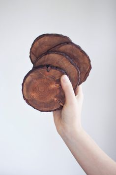 I really like these! Rustic Wood Coasters