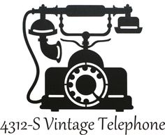 vintage silhouettes | Home :: SILHOUETTES :: Vintage Phone - Silhouette Kids Silhouette, Vintage Silhouette, Silhouette Portrait, Silhouette Cameo Projects, Vintage Phones, Vintage Telephone, Vinyl Board, Stencils, Antique Phone
