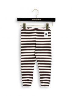 Mini Rodini AW16 Stripe Rib Leggings Brown