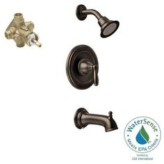 MOEN Brantford Single-Handle Posi-Temp Tub and Shower Faucet Trim Kit in Oil Rubbed Bronze (Valve Included) - The Home Depot Cafe Racer Moto, Cafe Racer Build, Tub And Shower Faucets, Shower Tub, Thing 1, Oil Rubbed Bronze, Chrome Finish, Light In The Dark, Door Handles