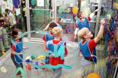 Paint box at Amazement Square - a museum for kids of all ages.