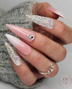 Perfect Nails, Gorgeous Nails, Pretty Nails, Amazing Nails, Perfect Makeup, New Nail Art Design, Nail Art Designs, Glitter Nails, Fun Nails