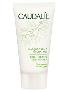 Once a week, put on a moisturizing mask like Caudalie Moisturizing Cream Mask ($40) after exfoliating and leave it on for at least 20 minutes.
