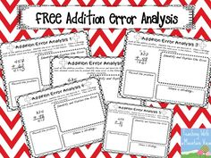 Error Analysis for Enrichment and Critical Thinking. How I use error analysis to get my kids thinking about math! Freebie included.