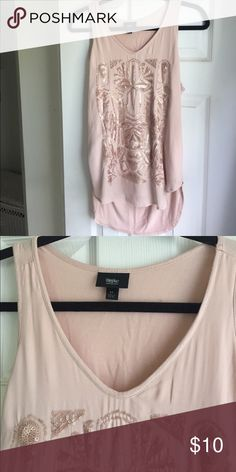 Light pink and rose gold sequin tank top. Only worn once! Great condition! Mossimo Supply Co. Tops Tank Tops