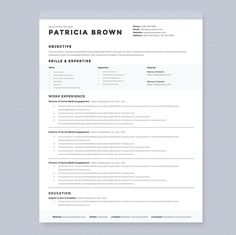 Clean Resume Template Pkg. by JannaLynnCreative on Creative Market