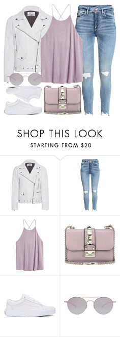 """""""Everyday Look"""" by monmondefou ❤ liked on Polyvore featuring Acne Studios, H&M, Valentino, Vans, Kyme, white, Pink and purple"""