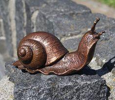 Bronzeskulptur, kleine Schnecke, Dekoration für Haus und Gartensparen25.com , sparen25.de , sparen25.info