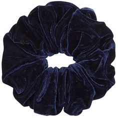 Navy Velvet Oversized Scrunchie (17 BRL) ❤ liked on Polyvore featuring accessories, hair accessories, fillers, hair, scrunchies, navy hair accessories, scrunchie hair accessories and navy blue hair accessories
