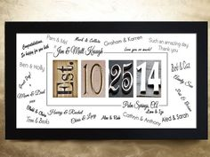 WEDDING GUEST BOOK Alternative Wedding Guest by ThePhotoGiftCo