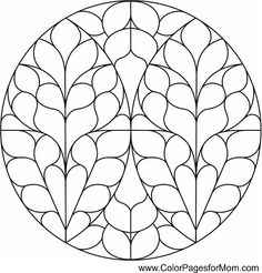 Advanced Coloring Pages Stained Glass coloring page 5 Stained Glass Rose, Stained Glass Patterns, Stained Glass Windows, Pattern Coloring Pages, Mandala Coloring Pages, Adult Coloring Pages, Doodle Drawings, Doodle Art, Cathedral Windows