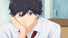 Starring at Manda from km Anime Boys, Cute Anime Boy, Manga Anime, Anime Art, Ao Haru Ride Kou, Tanaka Kou, Futaba Y Kou, Fille Anime Cool, Blue Springs Ride