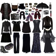 """""""Old School Bohemian Gothic Wardrobe"""" by emily-nelson-abentroth on Polyvore"""