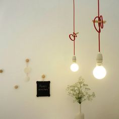 Hanging light bulbs in the office :)