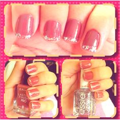 Manicure with Essie luxeffects set in stones & Rimmel hot cocoa