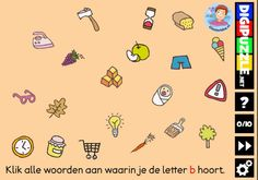 Kleuteridee.nl, Interactief letterspel bij de letter b voor kleuters, voor…