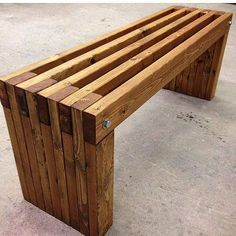 A beautiful bench from @konkretedesigns. . . #woodworkforall #luxurygoods #woodwork #woodworking #wood #woodturning #woodporn #bench #industrialdesign #kitchentable #rusticdecor #rustic #crafting #table #likesforlikes #handcrafted #ryobination #luxurylife