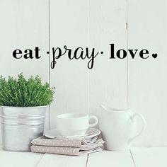 Eat Pray Vinyl Wall Decal Sticker