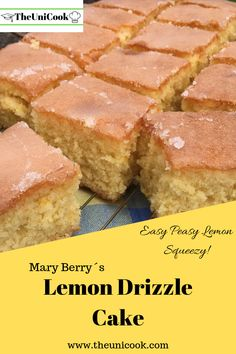 Need some breakfast recipe ideas to get through your morning lectures? Then these 5 easy breakfasts for busy university students are exactly what you need! Mary Berry Lemon Drizzle Cake, Lemon Drizzle Traybake, Easy Lemon Drizzle Cake, Easy Lemon Cake, Lemon Cakes, Great British Bake Off, Köstliche Desserts, Dessert Recipes, Mary Berry Desserts