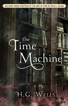 The Time Machine by H.G. Wells.  The Time Traveller, a dreamer obsessed with traveling through time, builds himself a time machine and, much to his surprise, travels over 800,000 years into the future. He lands in the year 802701…  read more at Kobo http://www.kobobooks.com/ebook/The-Time-Machine/book-kxMe-tlCvUKXrVab4vHW0Q/page1.html