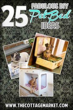 25 Fabulous DIY Pet Bed ideas - Domestic DIY
