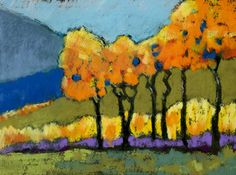 Fall Colors by Susan Grinels, fall pastel painting