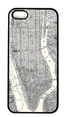 Vintage Manhattan map iPhone case. Love!