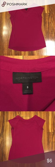 Worthington Pink Top Worthington top. Dark pink. Loose fit. Slightly longer in back. EUC. Size small. Offers considered. Worthington Tops Blouses