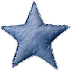 Bloomingville Star Blue Kussen  50 cm