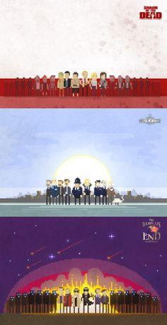 Cornetto Trilogy Posters