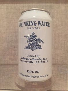 Drinking water from Hurricane Katrina, displayed at the Historic New Orleans Collection.