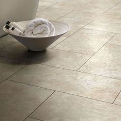 Buy Online Today Polyflor Luxury Vinyl Tiles Portico Limestone - Wood and Stone tiles effects from Best at Flooring. Home Depot Flooring, Kitchen Flooring Options, Vinyl Flooring Bathroom, Bathroom Vinyl, Kitchen Vinyl, Wooden Bathroom, Kitchen Floors, Bathroom Ideas, Modern Flooring