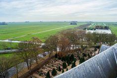 Vistas del cementerio de Edam desde el campanario del Grote Kerk, al fondo se puede ver el mar – Proximidades de Amsterdam
