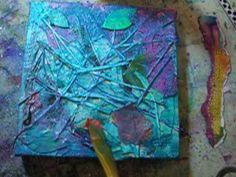 """Table Scraps"" Mixed Media Canvas - YouTube"