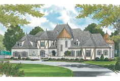 House Plans Mansion, Luxury House Plans, Ranch House Plans, Cottage House Plans, Craftsman House Plans, Bedroom House Plans, Dream Mansion, French Country House Plans, European House Plans