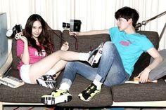 Krystal and model Ahn Jae Hyun look like a cute campus couple for 'Puma'