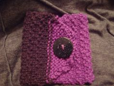 Knit coffee cozy for Kynsey
