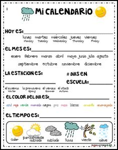 Spanish Circle Time Printables {FREE!}